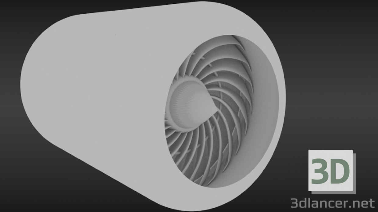 3d model Turbine - preview