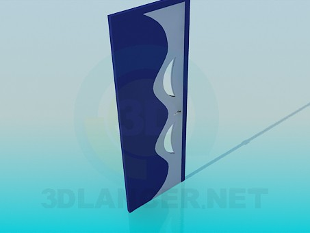3d model Door with wavy pattern - preview
