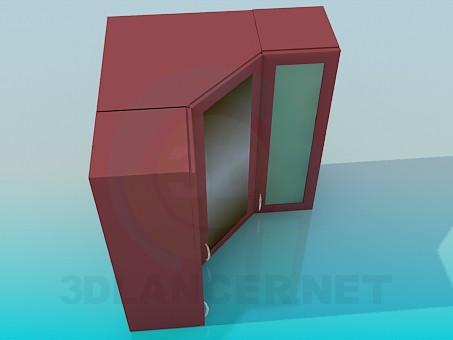3d model Angular lockers - preview