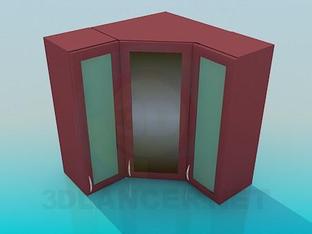 3d модель Угловые навесные шкафчики – превью