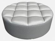 Leather Ottoman round shape Circl