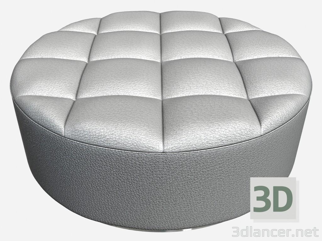 Fantastic 3D Model Leather Ottoman Round Shape Circl Incanto Giovanni Short Links Chair Design For Home Short Linksinfo