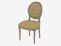 Dining chair FRENCH VINTAGE LOUIS ROUND BUTTON SIDE CHAIR (8827.0002.2.N009)