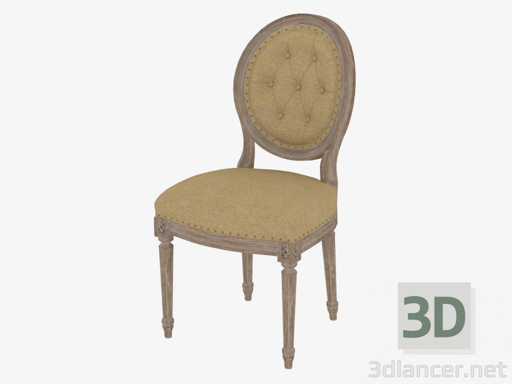 Modelo 3d cadeira de jantar francês do vintage LOUIS ROUND CADEIRA botão lateral (8827.0002.2.N009) - preview