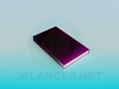 3d модель Книга – превью