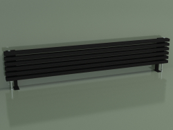 Radiateur horizontal RETTA (6 sections 1800 mm 60x30, noir mat)