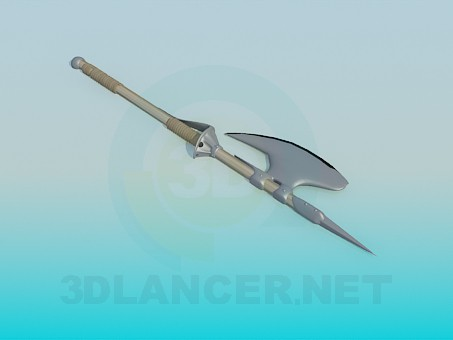 3d model A spear with an axe - preview