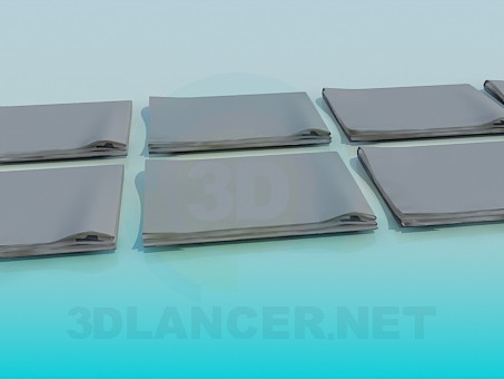 3d model Folders with documents - preview