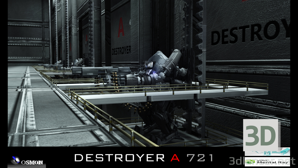 3d DESTROYER A 721 model buy - render