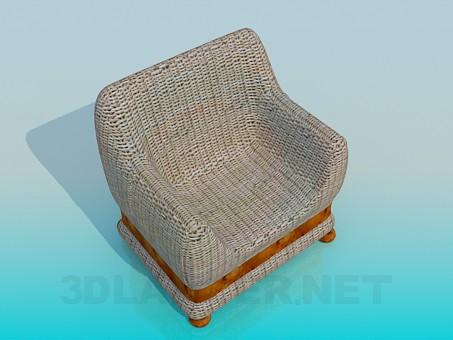 3d modeling Wickerwork seat model free download
