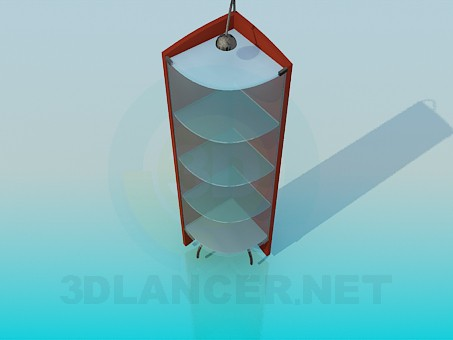 3d modeling Corner-illuminated stand model free download