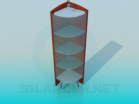 3d модель Угловой стенд-витрина с подсветкой – превью