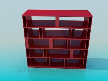 3d modeling Rack for books model free download
