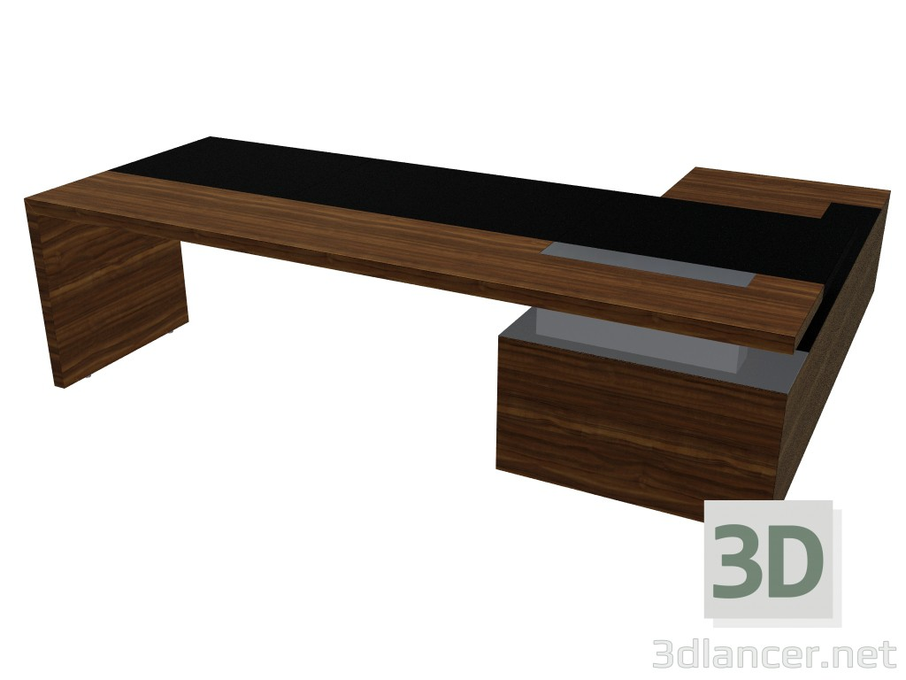 3d Model Office Desk With Pedestal Ceoo Schreibtische