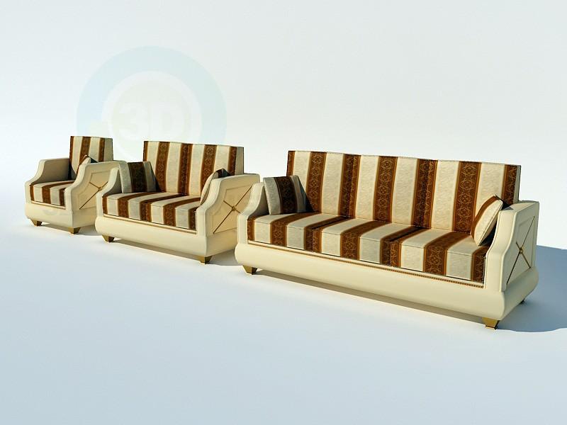 3d модель TURRI_диваны и кресло – превью