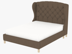 Double bed MEREDIAN WING QUEEN SIZE BED WITH FRAME (5105Q.A008)