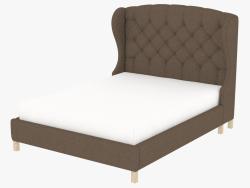 फ्रेम के साथ डबल बेड MEREDIAN विंग रानी आकार बिस्तर (5105Q.A008)