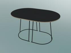Tavolino Airy (piccolo, nero)