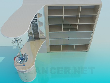 3d model Bar kitchen - preview