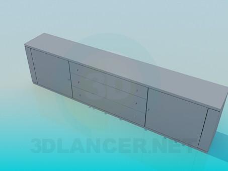 3d модель Удлиненная тумба-подставка – превью