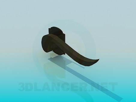modelo 3D La manija de la puerta - escuchar