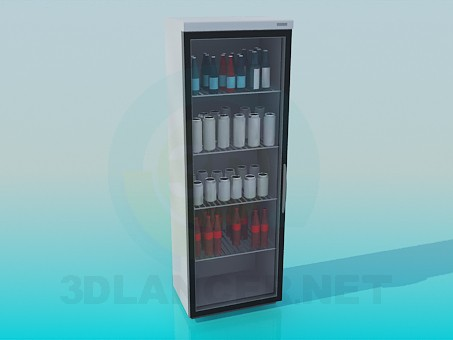 3d model Drinks fridge - preview