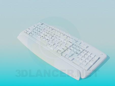 modelo 3D teclado - escuchar