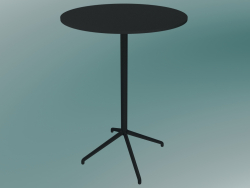 Cafe table Still (Ø75, H 105 cm, Black)