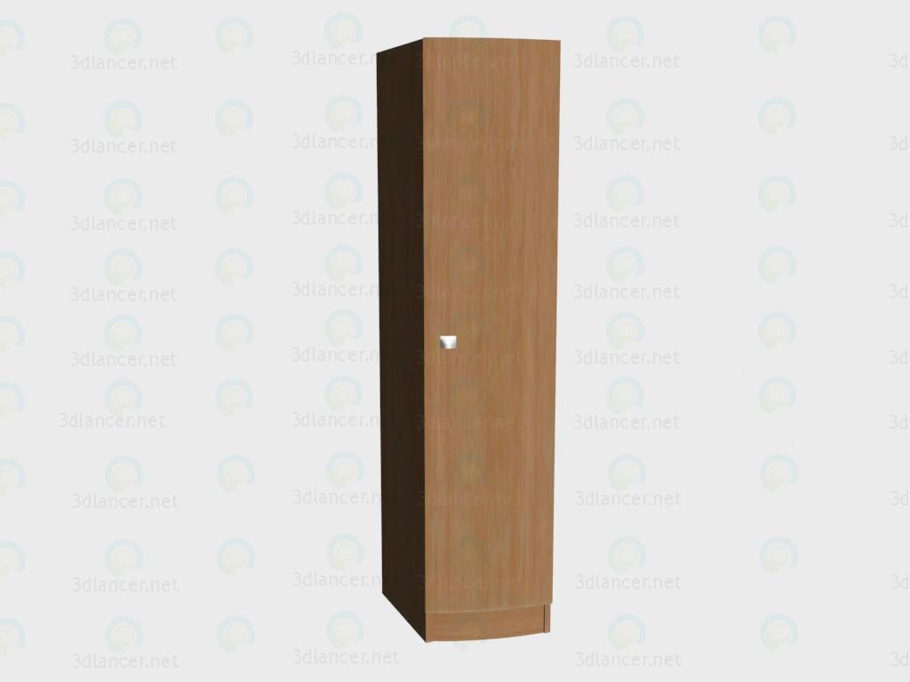 3d модель Шкаф 1-дверный левый VOX – превью