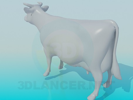 3d model Cow - preview