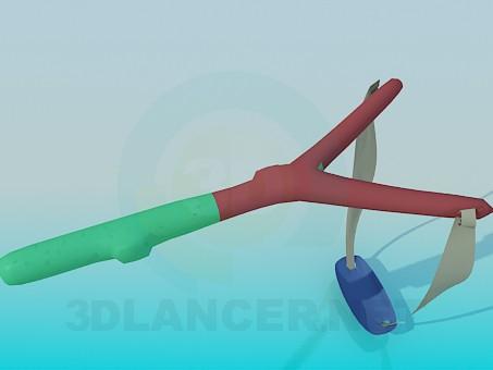 modelo 3D Tirachinas - escuchar