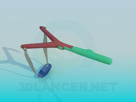 3d модель Рогатка – превью