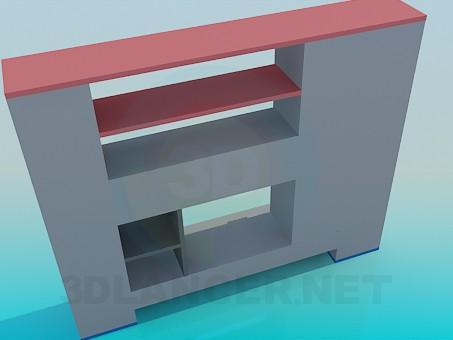 3d модель Невелика меблева стінка – превью