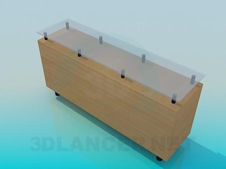 3d модель Тумба-подставка под ТВ – превью