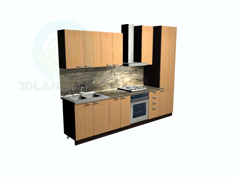 3d model kitchen in the style of minimalism id 9874 for Model kitchen images