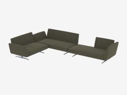 Modulare divano Fianco Term 196