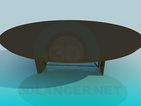 3d modeling Oval table for guests model free download
