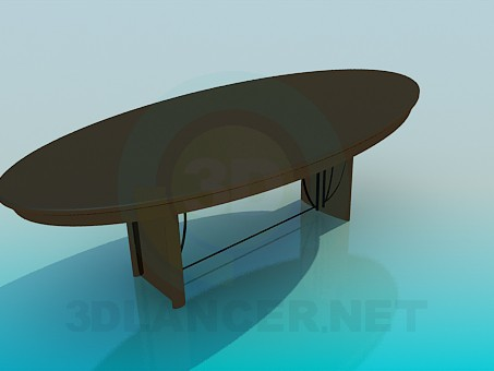 3d model Oval table for guests - preview