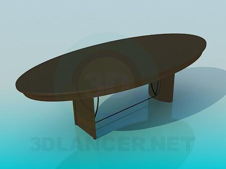 3d модель Овальний стіл для гостей – превью