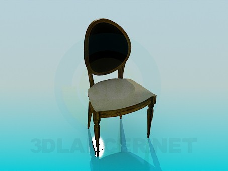 3d modeling Chair in classical style model free download