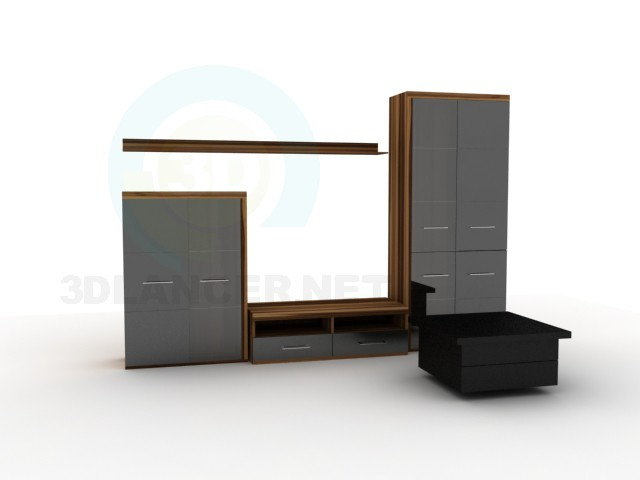 3d model The wall of the BRW Denzel2 + coffee table Nick 6 - preview