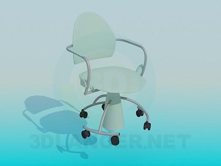 3d modeling Armchair on wheels model free download