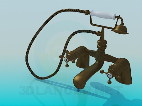 3d model Faucet in antique style - preview