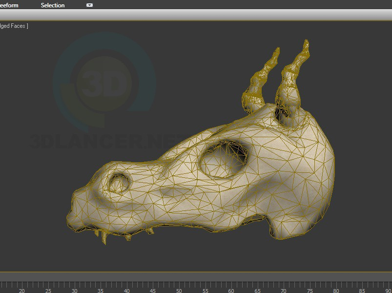 3d model Skull dragon - preview