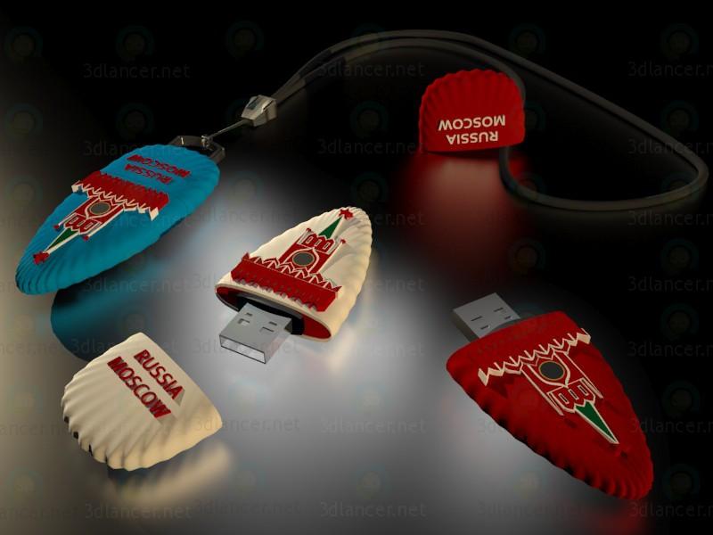 descarga gratuita de 3D modelado modelo Unidad flash USB