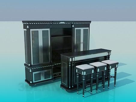 3d моделирование Бар в кухню модель скачать бесплатно