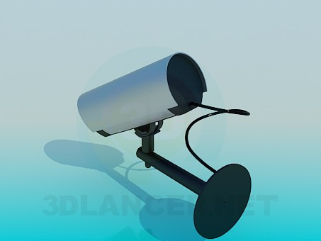 modelo 3D Cámara de vigilancia - escuchar