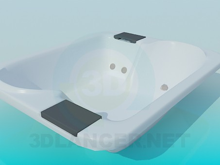 3d модель Подвійна ванна – превью