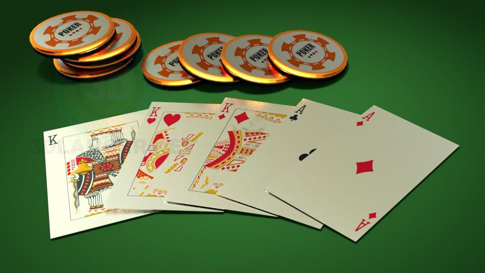 descarga gratuita de 3D modelado modelo Poker