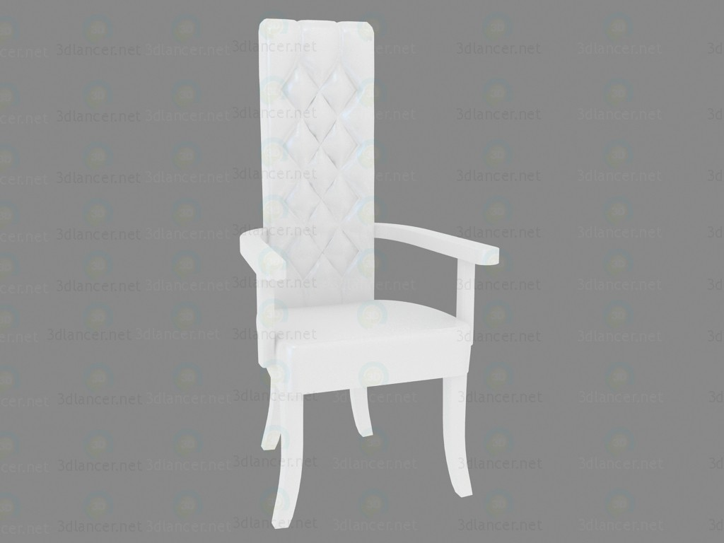 3d model Chair with armrests Domina Bianco - preview